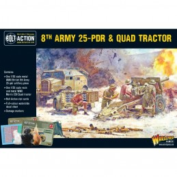 8th Army 25pdr, Quad and...